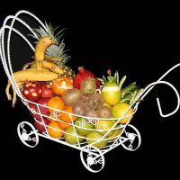 تزیین میوه یلدا | ۶۰ مدل میوه آرایی برای شب یلدا عروس و سفره یلدا + فیلم