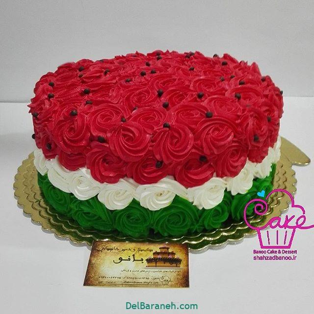 تزیین کیک یلدا (۱)