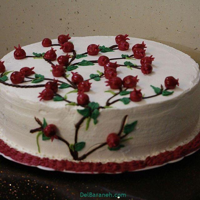 تزیین کیک یلدا (۱۰)