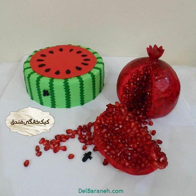 تزیین کیک یلدا (۱۱)