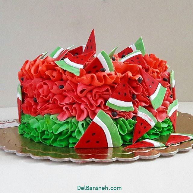 تزیین کیک یلدا (۱۳)