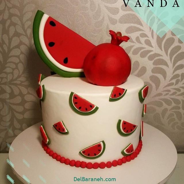 تزیین کیک یلدا (۱۴)