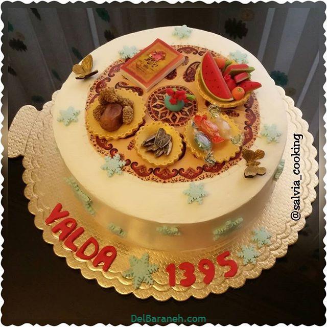 تزیین کیک یلدا (۱۶)