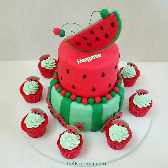 تزیین کیک یلدا (۲۱)