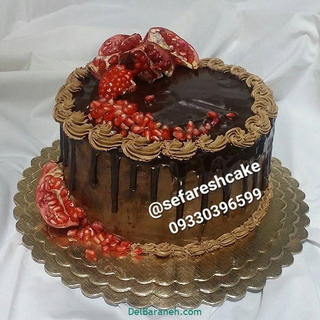 تزیین کیک یلدا (۳)