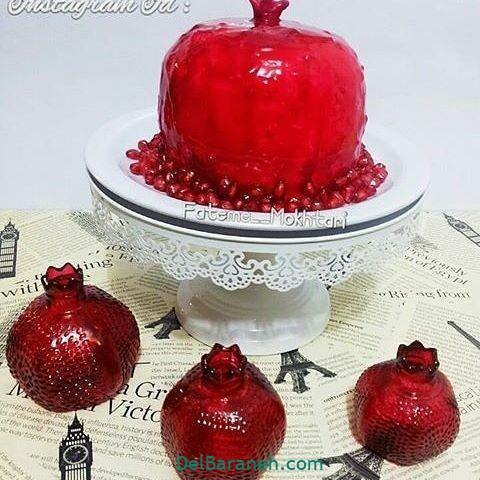 تزیین کیک یلدا (۳۴)