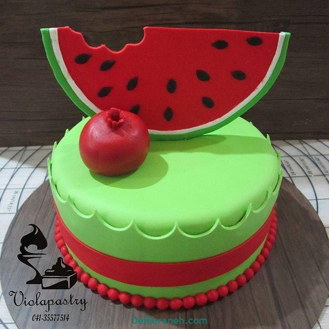 تزیین کیک یلدا (۸)