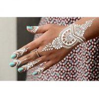 حنا سفید | ۳۳ طرح حنا سفید روی دست و بدن + آموزش تهیه و طراحی با حنا سفید