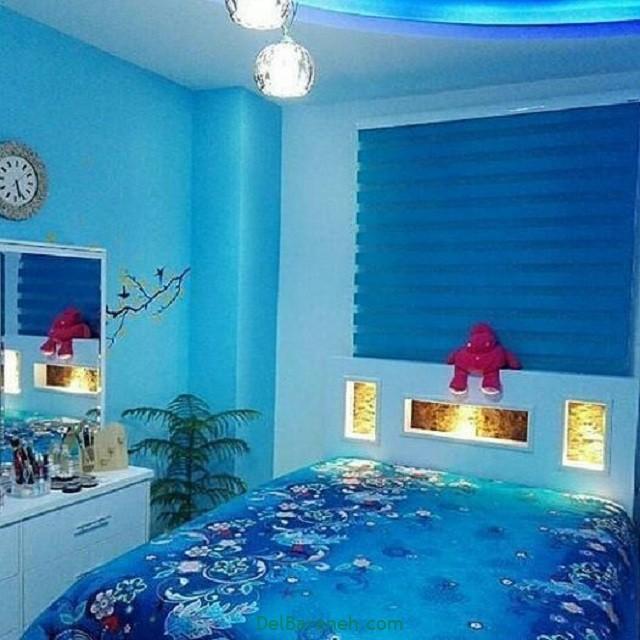 رنگ پذیرایی رنگ اتاق خواب (۷)