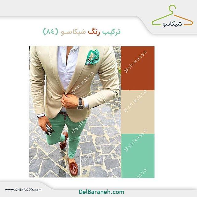 ست کردن رنگ لباس مردانه (۱۴)