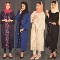 مانتو بلند | ۴۰ مدل مانتو بلند مجلسی و دخترانه از برند ایرانی MESHKAT