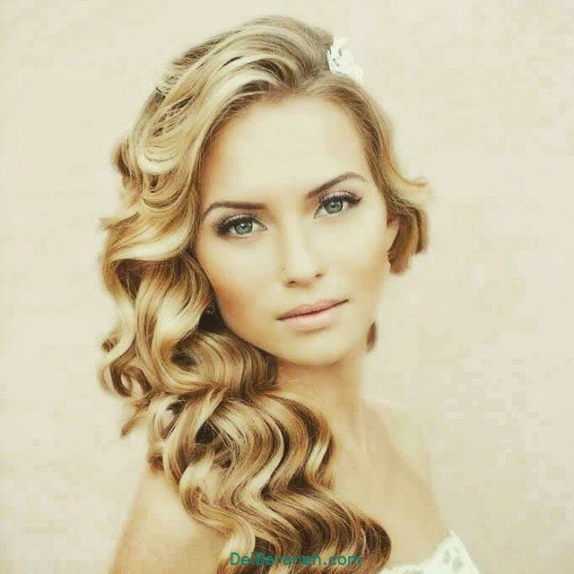 مدل مو باز مدل مو ساده نامزدی (۱)