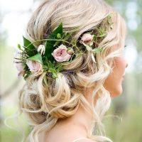 مدل مو با گل طبیعی | ۲۵ مدل شنیون دخترانه با گل طبیعی شیک و ملیح