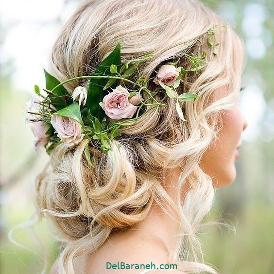 مدل مو با گل طبیعی (۱)