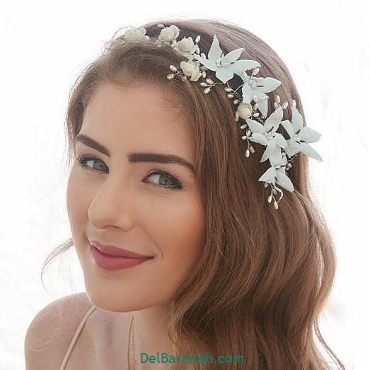 مدل مو با گل طبیعی (۱۰)