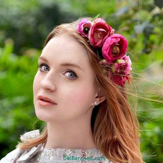 مدل مو با گل طبیعی (۱۲)