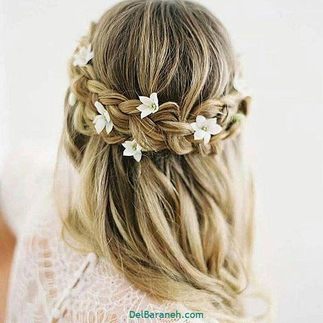 مدل مو با گل طبیعی (۱۵)