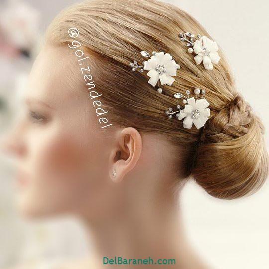 مدل مو با گل طبیعی (۱۶)