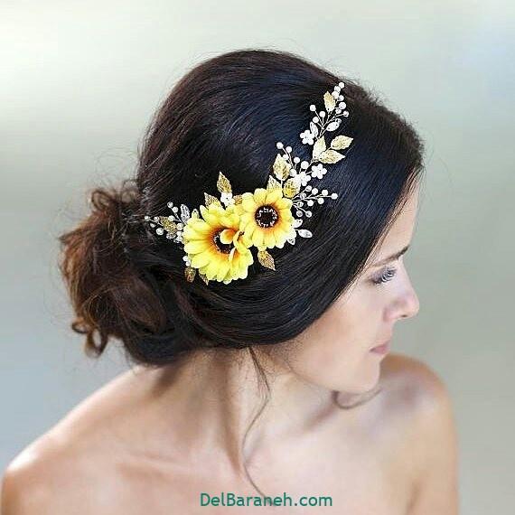 مدل مو با گل طبیعی (۲۱)