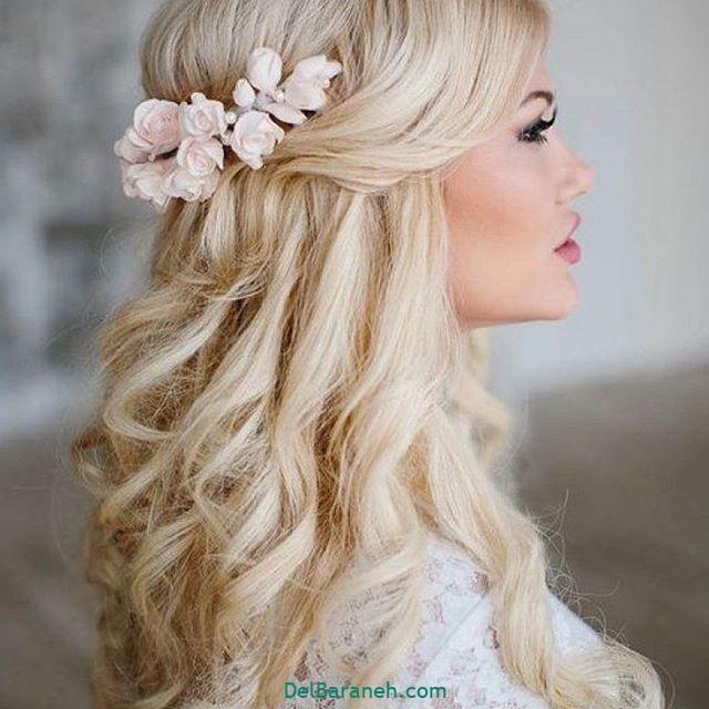 مدل مو با گل طبیعی (۳)