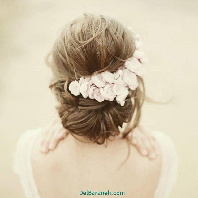 مدل مو با گل طبیعی (۷)