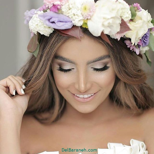 مدل مو با گل طبیعی (۸)