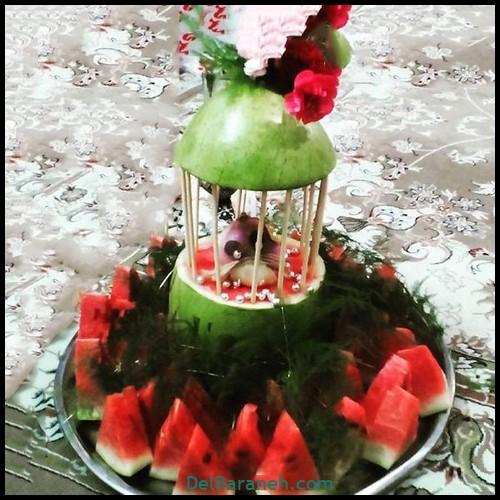 میوه آرایی سبد میوه (۱)