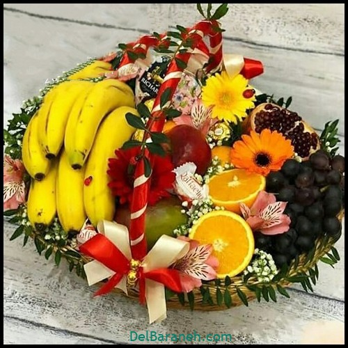 میوه آرایی سبد میوه (۲)
