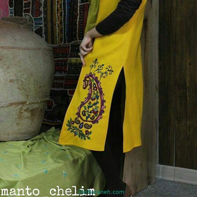 پته دوزی روی مانتو سارافون سنتی (۶)