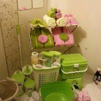 تزیین حمام عروس | ۳۰ مدل ساده تزیین حمام و دستشویی عروس