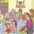 رنگ آمیزی نقاشی شب یلدا (۱)