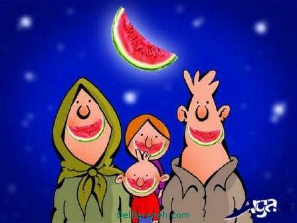 رنگ آمیزی نقاشی شب یلدا (۱۲)