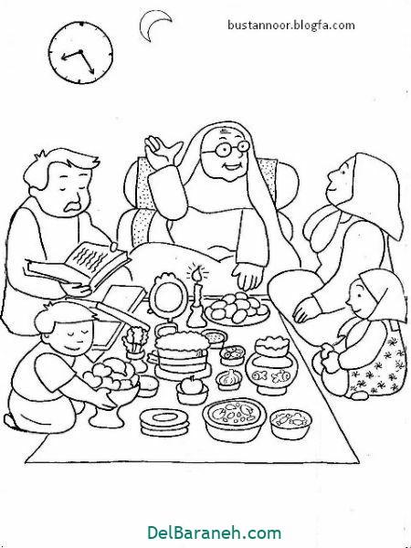 رنگ آمیزی نقاشی شب یلدا (۲۲)