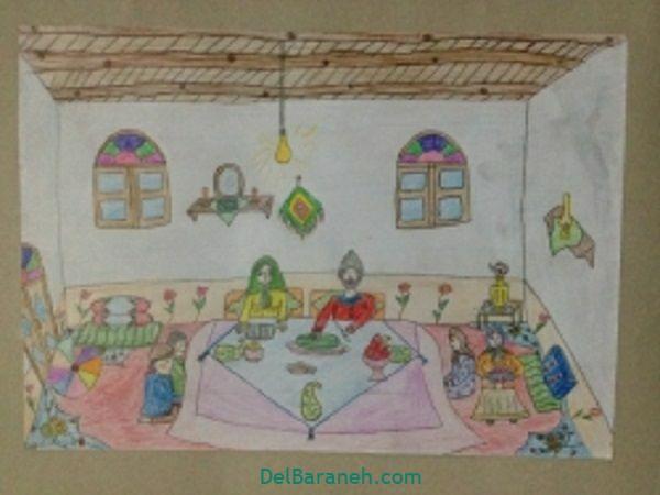 رنگ آمیزی نقاشی شب یلدا (۲۹)