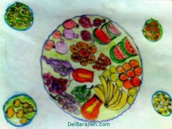 رنگ آمیزی نقاشی شب یلدا (۳۰)