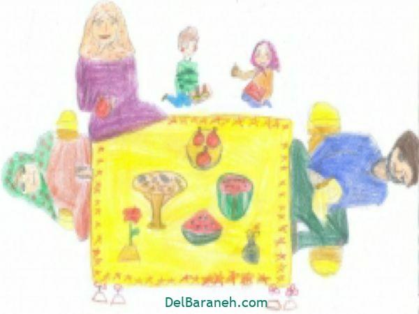 رنگ آمیزی نقاشی شب یلدا (۳۱)