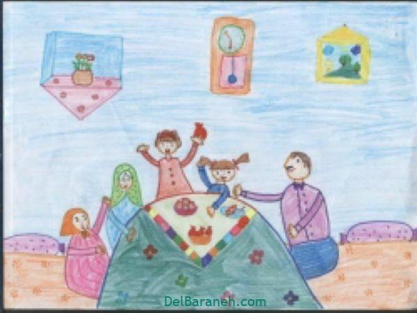 رنگ آمیزی نقاشی شب یلدا (۳۶)