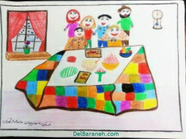 رنگ آمیزی نقاشی شب یلدا (۳۸)