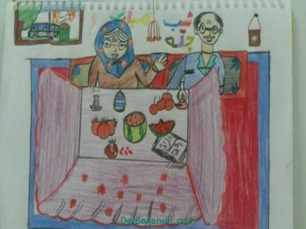رنگ آمیزی نقاشی شب یلدا (۳۹)