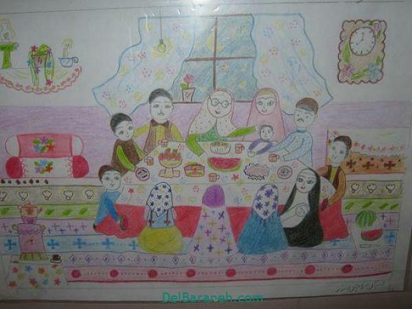 رنگ آمیزی نقاشی شب یلدا (۴۰)