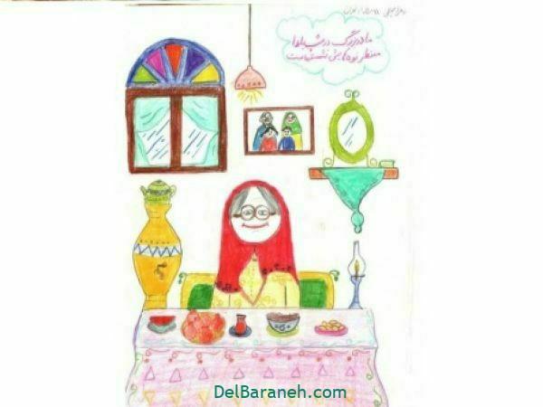 رنگ آمیزی نقاشی شب یلدا (۴۱)