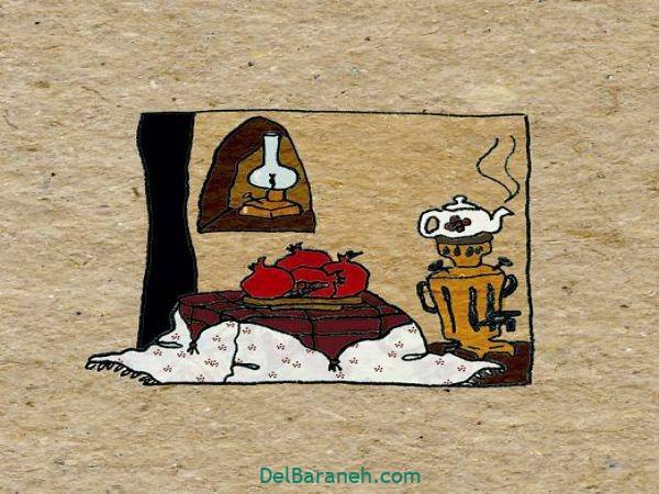 رنگ آمیزی نقاشی شب یلدا (۴۳)