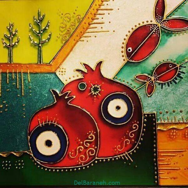 رنگ آمیزی نقاشی شب یلدا (۴۷)