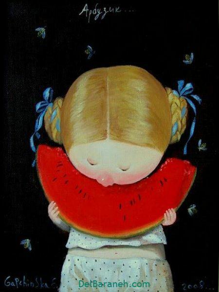 رنگ آمیزی نقاشی شب یلدا (۵۲)