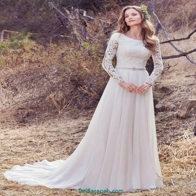 لباس عروس آستین دار (۱)