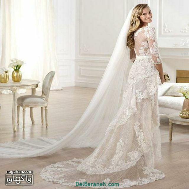 لباس عروس آستین دار (۱۰)