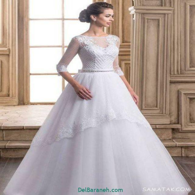 لباس عروس آستین دار (۱۳)