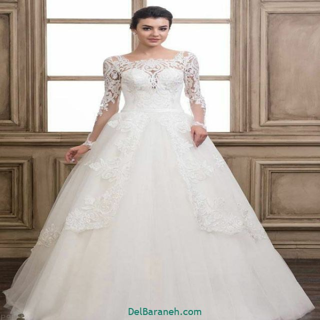 لباس عروس آستین دار (۱۴)