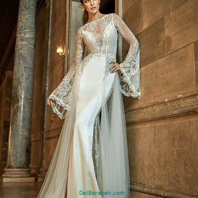 لباس عروس آستین دار (۱۵)