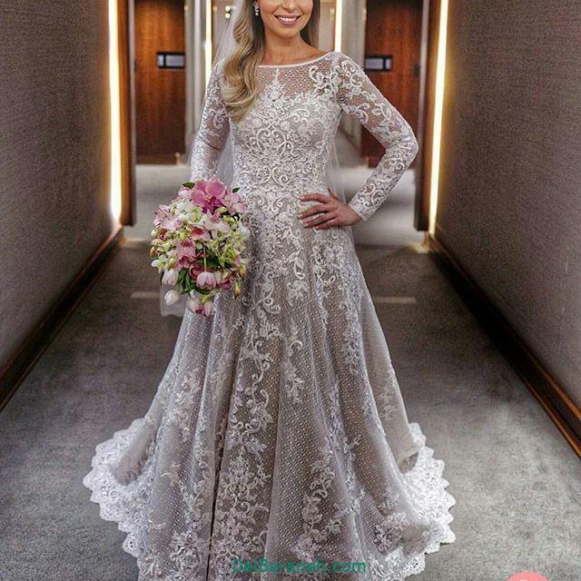 لباس عروس آستین دار (۱۸)